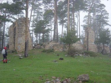 ruinas del convento de casaras, casa eraso, pabellon de casaras