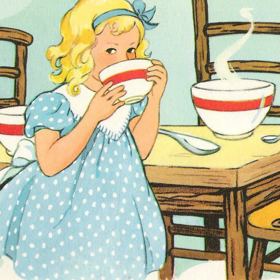 Goldilocks  Vintage  Book Illustration