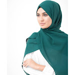 """Shop for Georgette Hijab Scarf in June Bug Green Poly, Medium 27""""x70"""" / June Bug Green"""