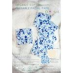 Reusable 100% Organic Cotton facial pad   Arcadia-Designs.com Cornflower 0569980 / 12 pads & bag