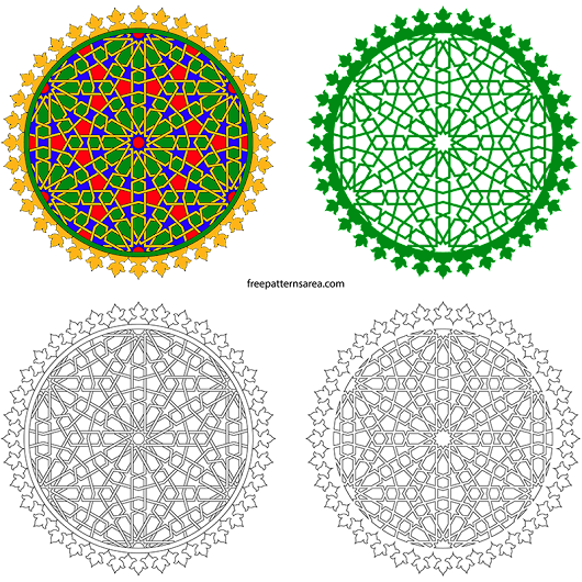 Geometric Decorative Islamic Art Ornament Vector Design
