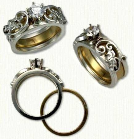 222 best Reverse Cradle Designed Rings images on Pinterest