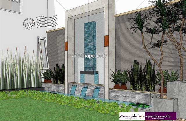 Gambar Desain Rumah Dengan Kolam Renang Dan Taman