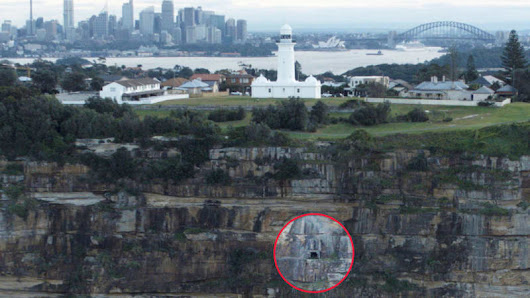 Below Macquarie Lighthouse, a secret WWII tunnel embedded in cliffside exists