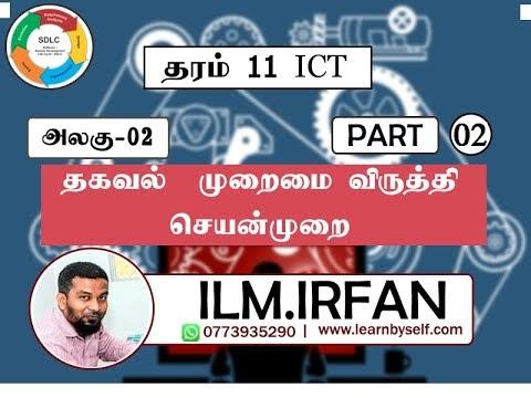 Grade 11 ICT Unit 2 : தகவல் முறைமை விருத்தி