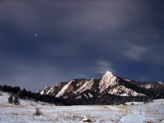Flatirons by Moonlight