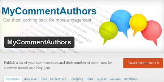 Free WP Plugin for More Traffic & Engagement ~ MyCommentAuthors