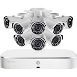 Lorex - 8-Channel, 8-Camera Indoor/Outdoor Wired 5MP 2TB NVR IP Security System - White