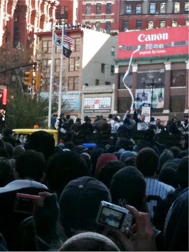 At the Yankees parade