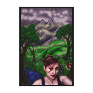 Path of the Vampire, regular size canvas print wrappedcanvas