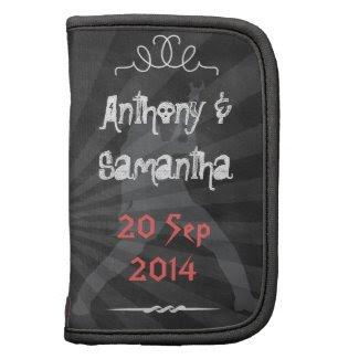 Chalkboard Retro Folio mini Wedding Organizers