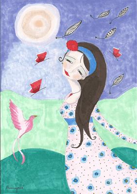 Bailando Con El Ave Fénix Mariayolé Dibujos De Mujer