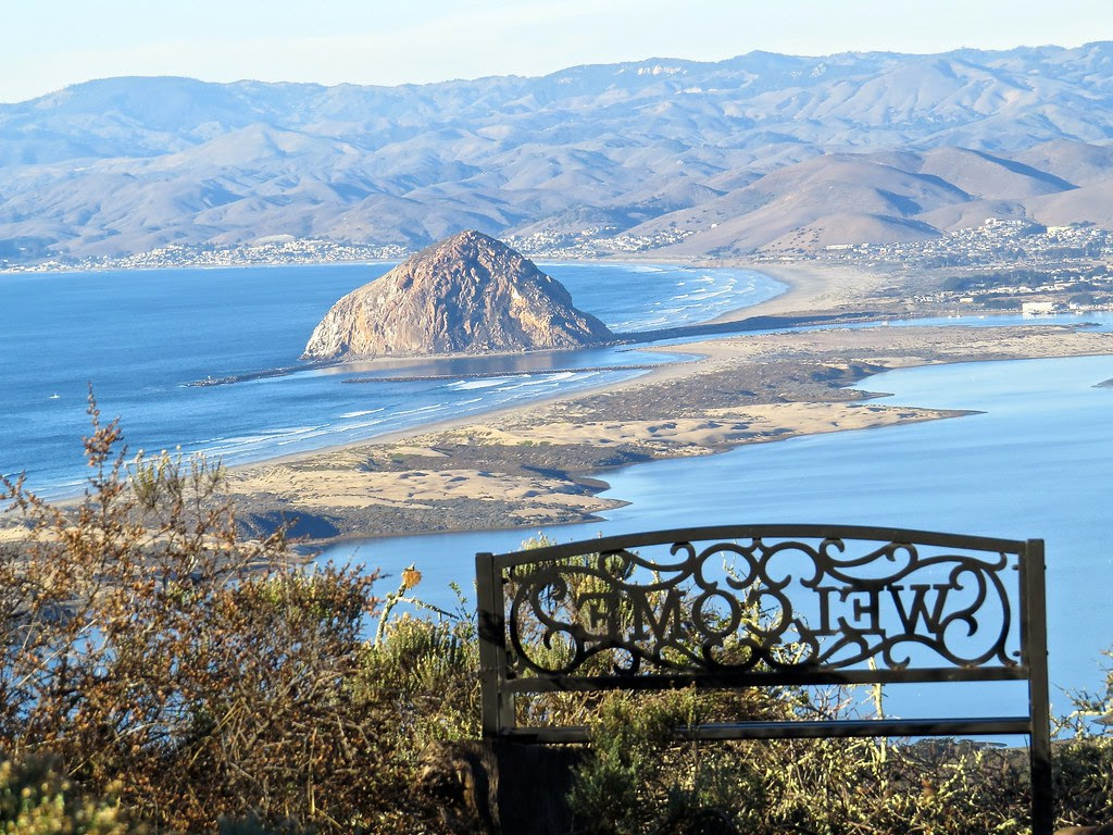 Morro Rock from Above Los Osos