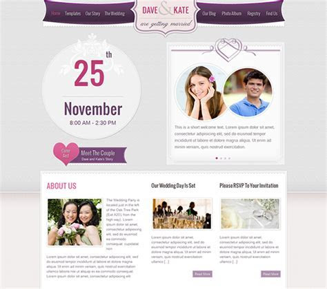 Wedding Website Templates   e commercewordpress