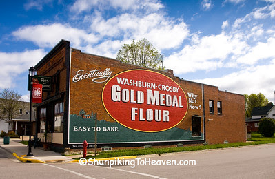 Refurbished Gold Medal Flour Mural, Monroe County, Wisconsin