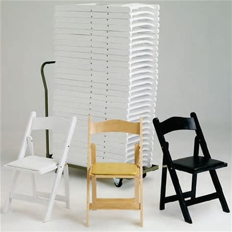 FOLDING CHAIRS: WOOD FOLDING CHAIRS, Los Angeles White