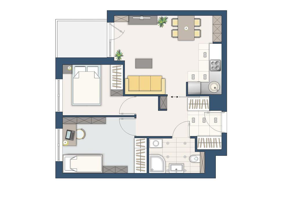 Mieszkanie 50 M Kw Jak Urządzić Salon Z Otwartą Kuchnią