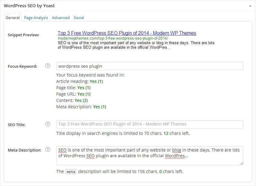 Top 3 Free WordPress SEO Plugin of 2014
