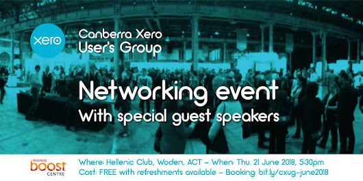 Canberra Xero Users Group - Networking event with special guest speakers