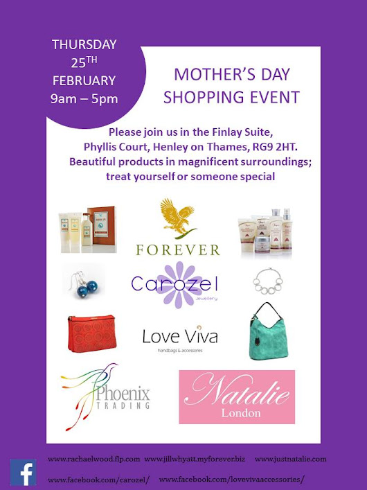 Mother's Day Shopping Event @ Phyllis Court, Henley on Thames