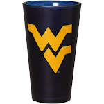 West Virginia Mountaineers 16 oz. Team Color Frosted Pint Glass