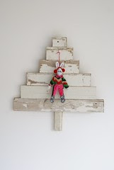 wood & wool x-mas tree