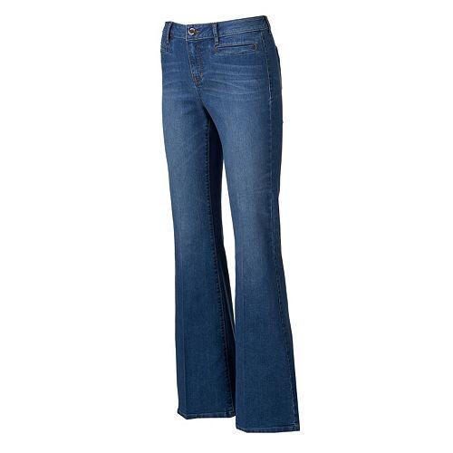 Jennifer Lopez Whiskered Flare Jeans - Women's