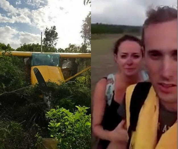 Couple Miraculously Survive Plane Crash While On Their Honeymoon