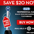 Great deal on Oral-B rechargeable toothbrush!