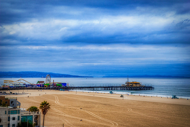 A Stormy Day in Santa Monica