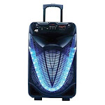 Naxa NDS-1533 Portable 15-Inch Bluetooth Party Speaker with Disco Light