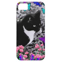 Freckles in Butterflies III, Tux Kitty Cat iPhone 5 Case