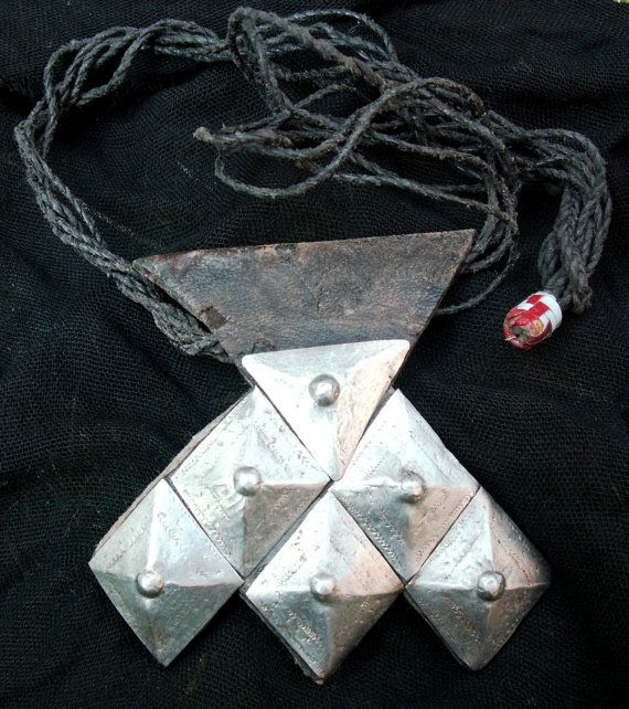 Tuareg amulet necklace.  Obsessed.