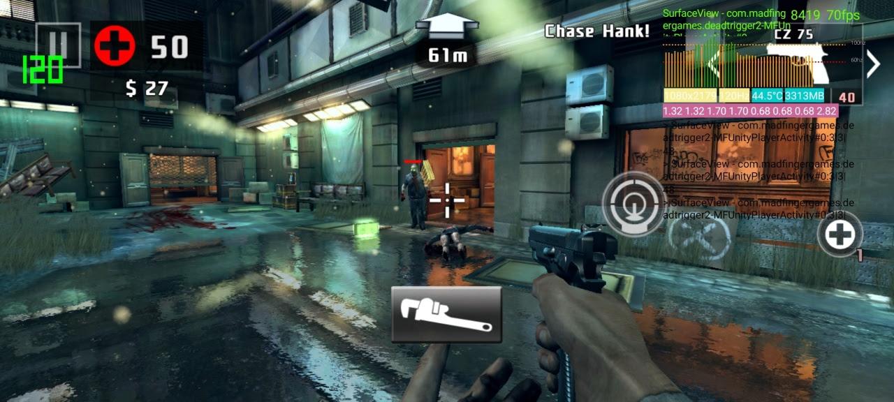 A gameplay screenshot from Dead Trigger 2