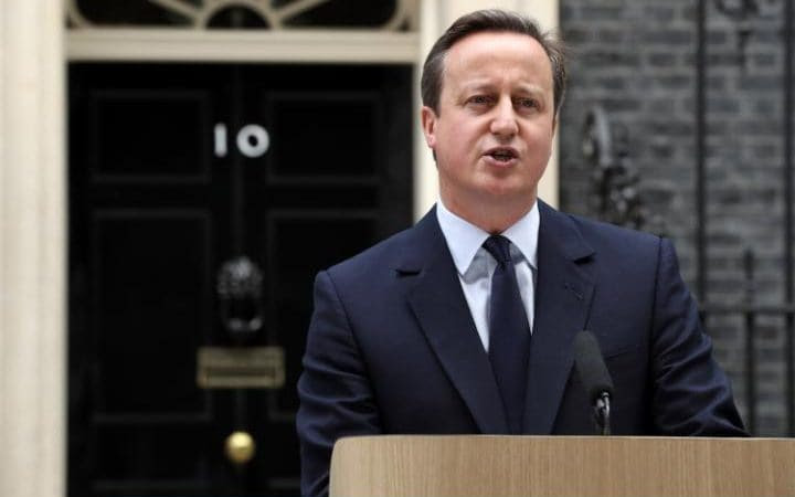 David Cameron delivers a statement on the steps of Downing Street