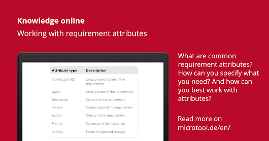 What are requirements attributes – microTOOL