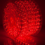 "150' Red LED Rope Light, 2 Wire 1/2"", 120 Volt"