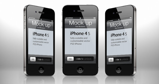 iPhone 4s Psd Vector Mockup Template  | Psd Mock Up Templates | Pixeden