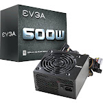EVGA - W1 Series 600W ATX 12V/EPS 12V 80 Plus Power Supply - Black