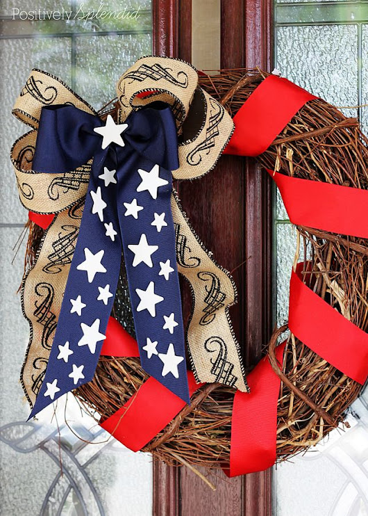 diy patriotic wreath perfect for memorial day and july 4th. Black Bedroom Furniture Sets. Home Design Ideas