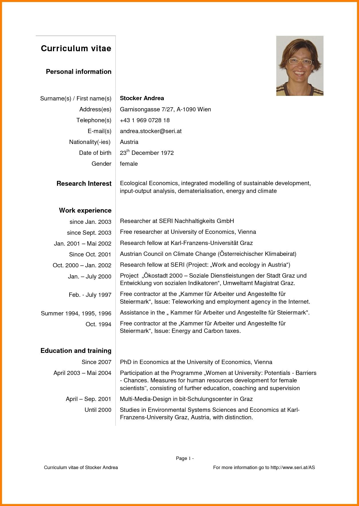 English curriculum vitae template - laboite-cv.fr
