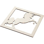 Genie Crafts 2-Piece Unfinished Wooden Unicorn Cutout, Fantasy Wall Art Decor for Painting, DIY Wood Crafts, and Signs, 11.6 x 0.2 Inches