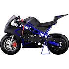 MotoTec Cali 40cc Gas Pocket Bike - Blue