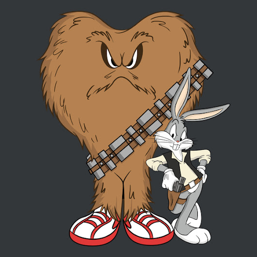 T-shirt: Bugs and Gossamer as Han and Chewy