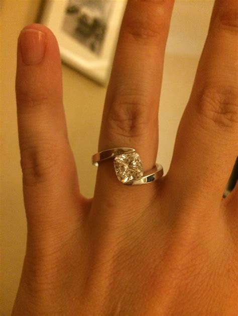 1000  images about Tension setting engagement rings on