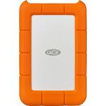 LaCie - Rugged 2TB External USB Type-C Portable Hard Drive - Orange/Silver