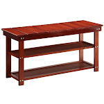 Oxford Collection Utility Mudroom Bench Cherry - 35 x 17 x 11.87 in.