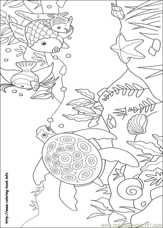 Coloring Pages Rainbow Fish 10 (Cartoons > Rainbow Fish ...