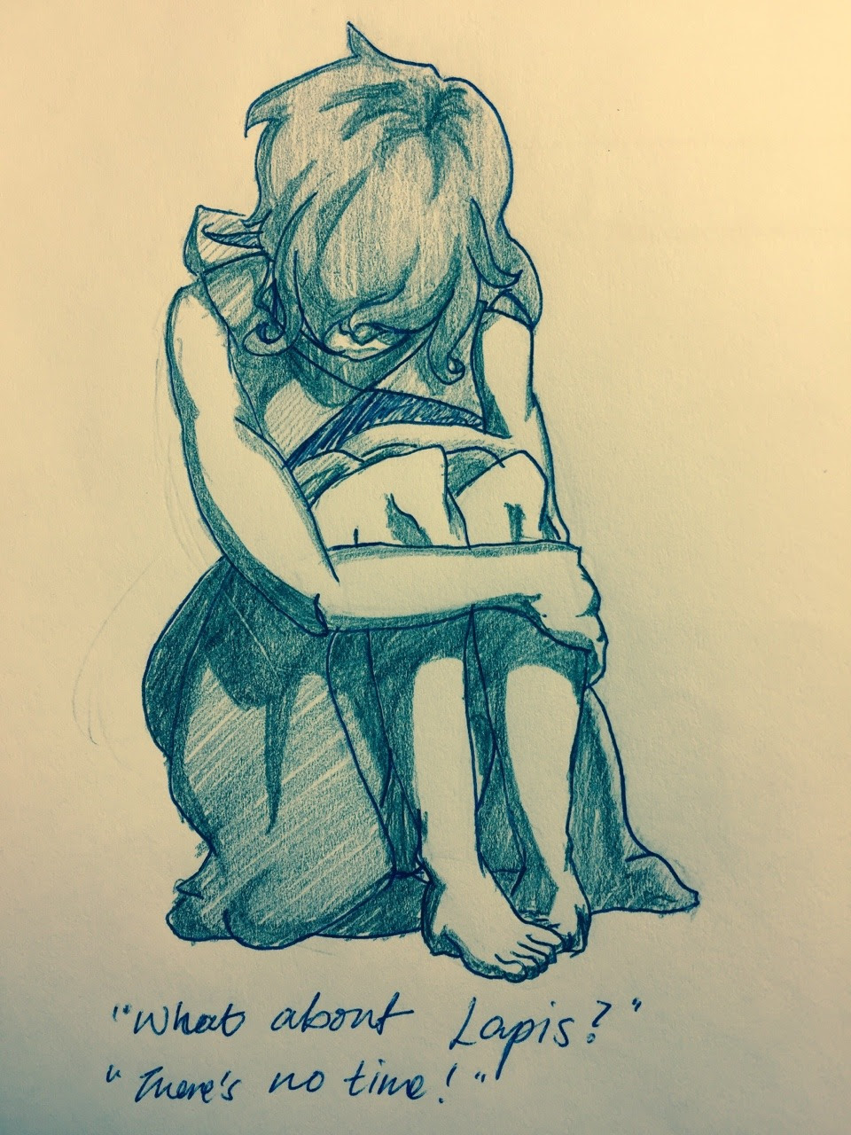 "Every time I listen to ""Stronger Than You"" and it doesn't cut before the end, Lapis' resigned face haunts me."