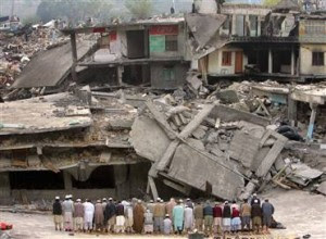 Balakot Mosque in Pakistan was completely destroyed in 2006 Earthquake